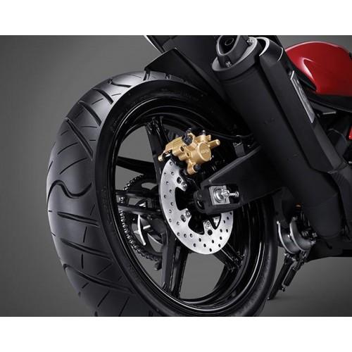 220mm Rear Disc & Wide Radial Tyre